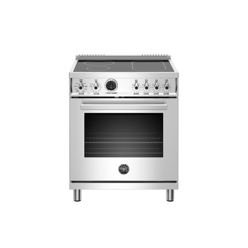 30 inch Induction Range, 4 Heating Zones, Electric Self-Clean Oven Stainless Steel