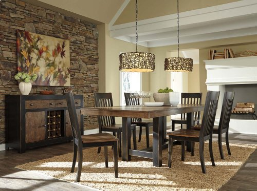 Rectangle Dining Table w/ 4 Side Chairs