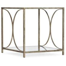 Living Room Novella Wavecrest Metal and Glass End Table