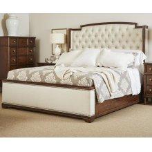 Vintage Upholstered Bed - Queen