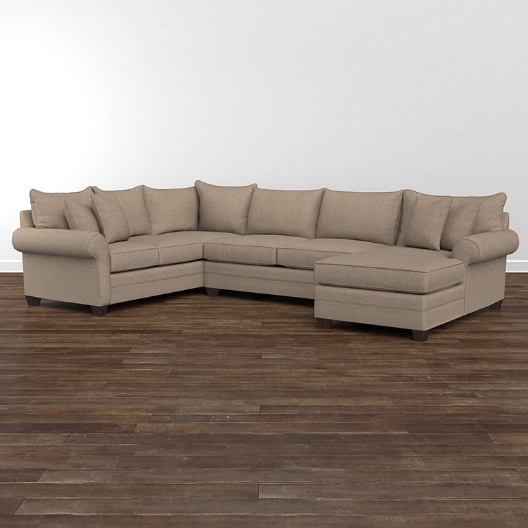... Sectionals; Bassett Furniture 3989USECT. Alex U Shaped Sectional