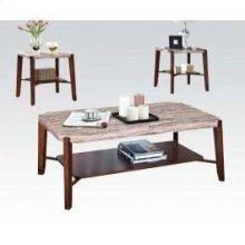 Sq. Marble 3pc Pk C/e Tables