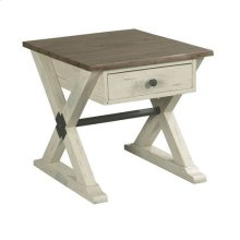 Reclamation Place Trestle Drawer End Table