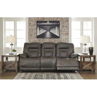 Wurstrow Power Reclining Sofa w/ Adjustable Headrest