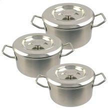 AGA Stainless Steel Casserole Set