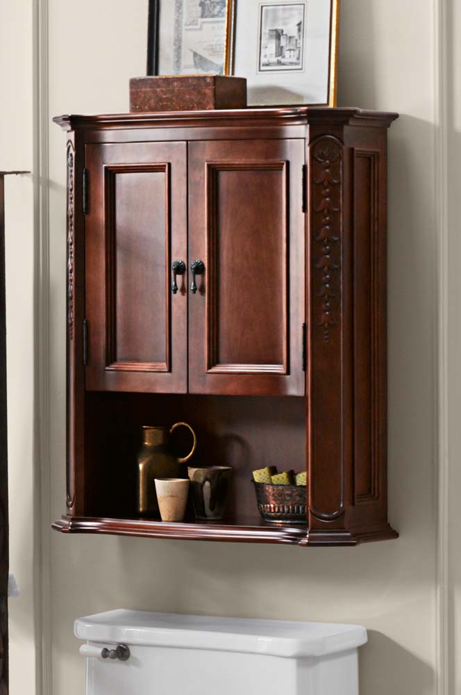 Superbe Bordeaux Bathroom Wall Cabinet In Colonial Cherry