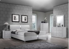 Enzo White Queen Headboard