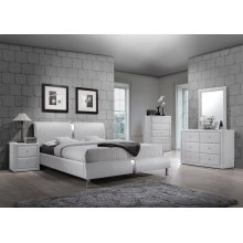 Enzo White King Headboard