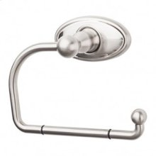 Edwardian Bath Tissue Hook Oval Backplate - Brushed Satin Nickel