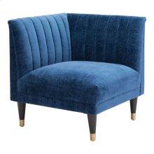 Raven Corner Chair Blue Velvet