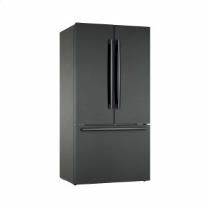 BOSCH800 Series French Door Bottom Mount Refrigerator 36'' Black stainless steel B36CT80SNB