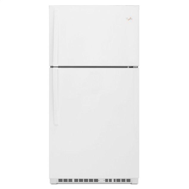 Whirlpool 33-inch Wide Top Freezer Refrigerator - 21 cu. ft. White