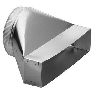 "Best10"" Round to Rectangular Transition for Range Hoods and Bath Ventilation Fans"