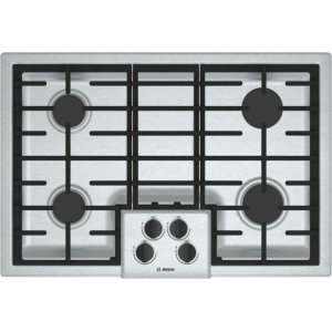 "Bosch500 Series, 30"" Gas Cooktop, 4 Burners, Stainless Steel"