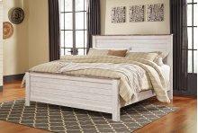Willowton - White Wash 3 Piece Bed Set (Cal King)