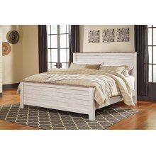 Willowton - Whitewash 3 Piece Bed Set (Cal King)