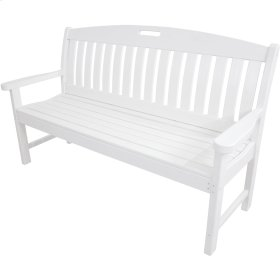 Avalon All-Weather 60 In. Porch Bench in White