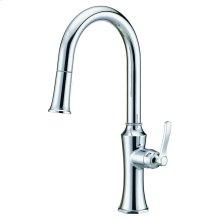 Chrome Draper® Single Handle Pull-Down Kitchen Faucet