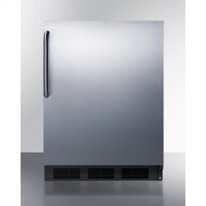 SummitADA Compliant Built-in Undercounter All-refrigerator for General Purpose Use, Auto Defrost W/ss Wrapped Exterior and Towel Bar Handle
