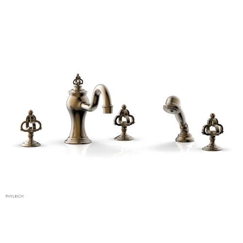 COURONNE Deck Tub Set with Hand Shower 163-48 - Antique Brass