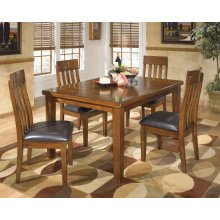 Winston - Medium Brown 5 Piece Dining Room Set