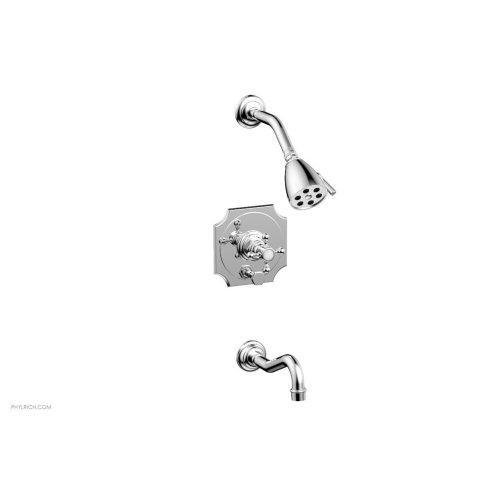 HENRI Pressure Balance Tub and Shower Set 161-29 - Polished Chrome