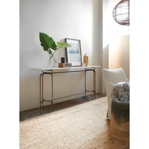 Living Room Skinny Metal Console Top