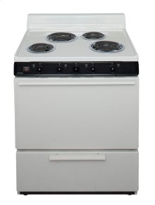 30 in. Freestanding Electric Range in Biscuit