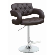 Contemporary Brown and Chrome Bar Stool