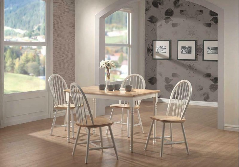 Fabulous Country Two Tone Natural Wood Dining Chair Ibusinesslaw Wood Chair Design Ideas Ibusinesslaworg