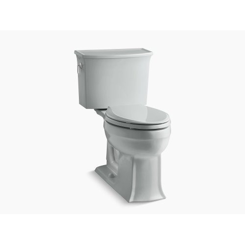 Ice Grey Comfort Height Two-piece Elongated 1.28 Gpf Toilet With Aquapiston Flushing Technology, Seat Not Included