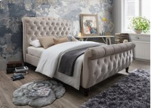 Colby Taupe Tufted Upholstered Queen Bed