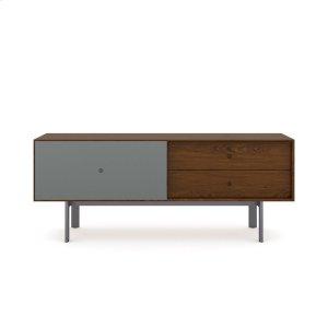 Bdi Furniture5229 Cabinet in Toasted Walnut Fog Grey
