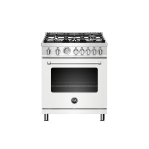 30 inch All Gas Range, 5 Burners Matt White Product Image