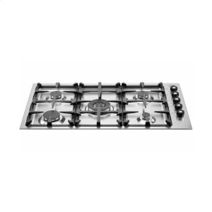 Bertazzoni36 Drop-in low edge cooktop 5-burner Stainless Steel