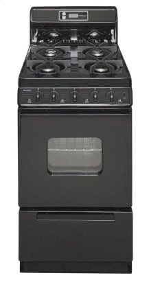 20 in. Freestanding Gas Range in Black