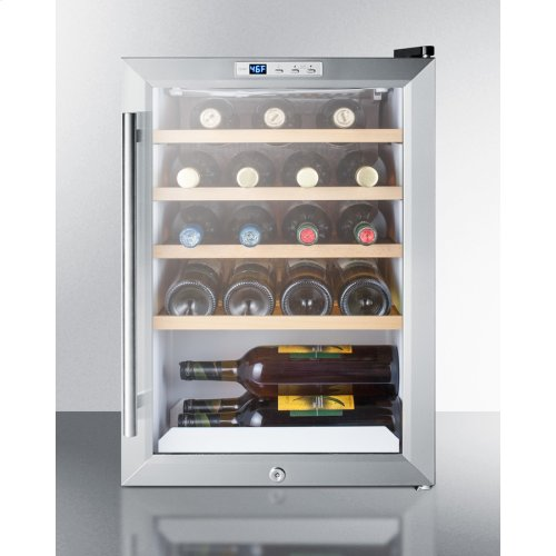 Commercially Approved Countertop Wine Cellar With Glass Door, Front Lock, and Digital Thermostat