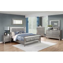 Leighton Contemporary Metallic Eastern King Bed
