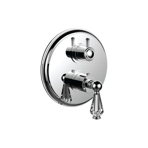 "7099ec-tm - 1/2"" Thermostatic Trim With Volume Control and 3-way Diverter in Polished Nickel"