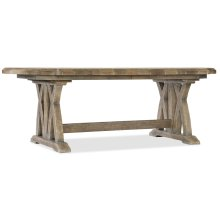 Dining Room Boheme Colibri 88in Trestle Dining Table w/1-20in Leaf