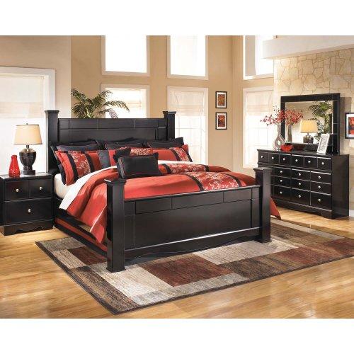 Shay - Almost Black 2 Piece Bedroom Set