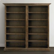 Emporium Smoked Oak Compass Tall Double Open Bookcase Product Image