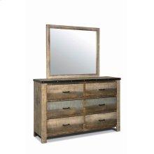 Sembene Antique, Multi-colored Mirror