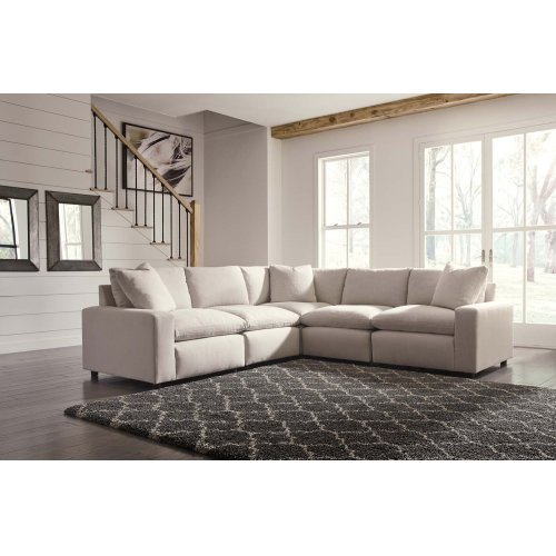 Savesto V Sectional Ivory