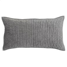 Bari Velvet Gray King Sham Set Product Image