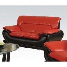 Red/black Bonded L. Loveseat