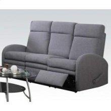 Gray Linen Sofa W/motion