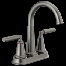 Black Stainless Two Handle Centerset Bathroom Faucet