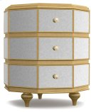 Bedroom Bewitch Mirrored Octagonal Nightstand Product Image