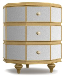Bedroom Bewitch Mirrored Octagonal Nightstand